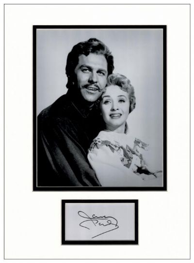 Jane Powell Autograph Signed Display